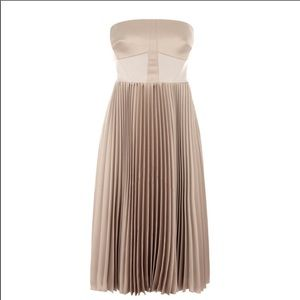 Karen Millen strapless pleat dress